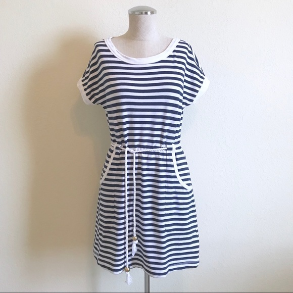 Lilly Pulitzer Dresses & Skirts - Lilly Pulitzer | Striped Nautical Rope Belt Dress